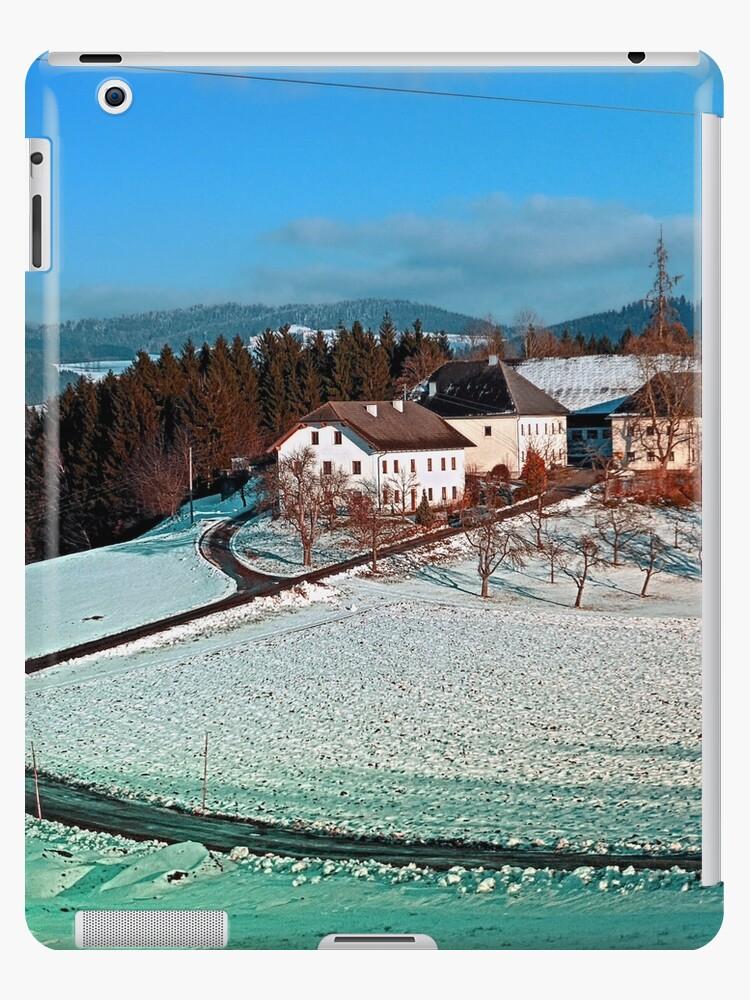 Village scenery in winter wonderland   landscape photography by Patrick Jobst