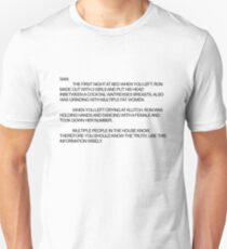 Jersey Shore--The Note Unisex T-Shirt