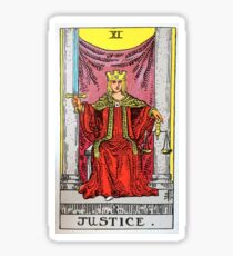 Justice Tarot Sticker