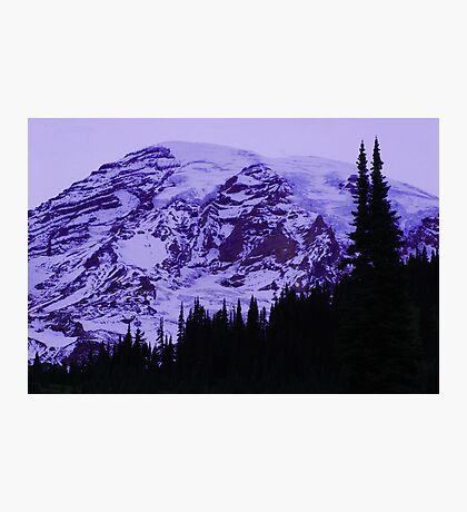 Lavender Twilight at Mt. Rainier Photographic Print