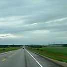 Hi-Way between Wadena and Tisdale Sask,Canada by MaeBelle