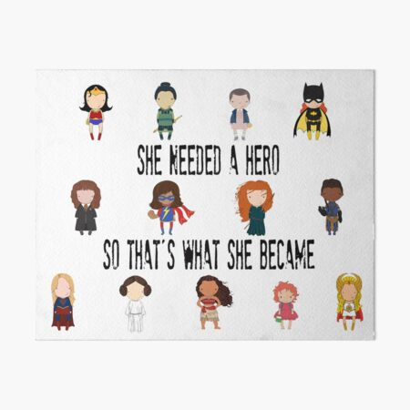 So that's what she became Art Board Print