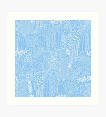 blue city Kunstdruck