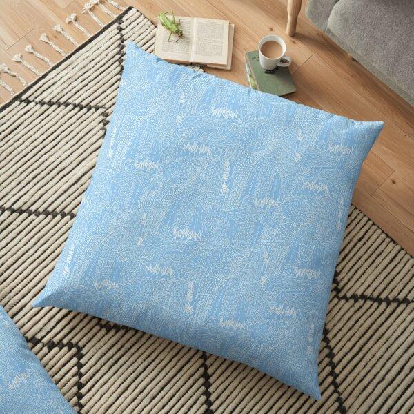 blue city Floor Pillow
