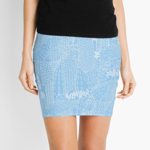 blue city Mini Skirt