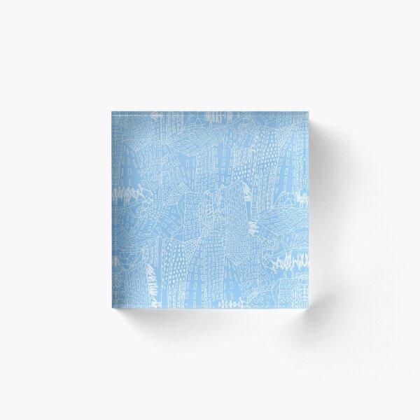 blue city Acrylic Block