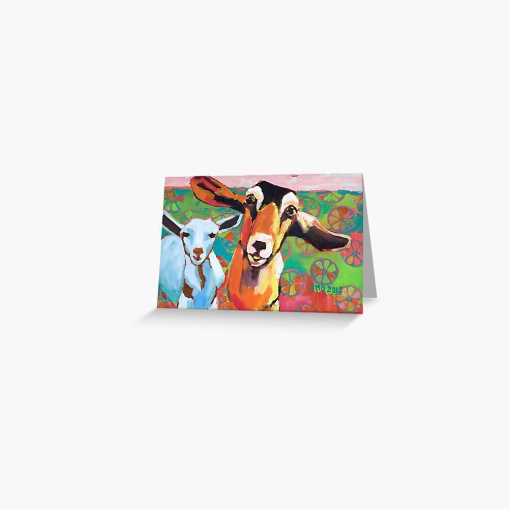 Goat Take-Off Greeting Card
