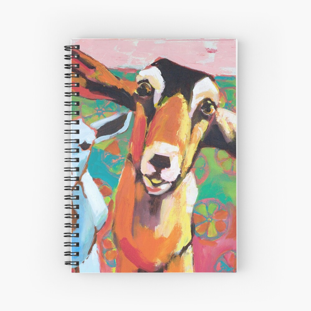 Goat Take-Off Spiral Notebook