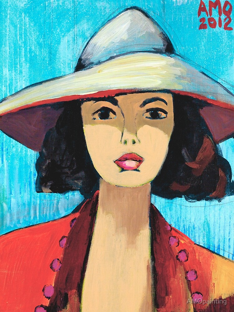 Sun Hat Girl by AMOpainting