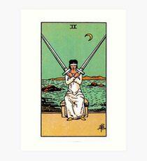 Two of Swords Tarot Art Print