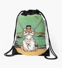 Two of Swords Tarot Drawstring Bag