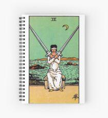 Two of Swords Tarot Spiral Notebook