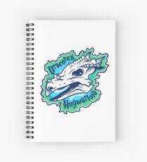 Green glowing Dracorex hogwartsia Spiral Notebook