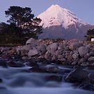 Mount Taranaki at night by Paul Mercer