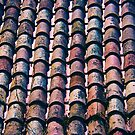 Tiled Roof in Girona, Spain by Yulia Kazansky