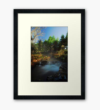 Kerosine creek thermal stream, Rotorua Framed Print