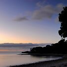 Coromandel coastline at dusk by Paul Mercer