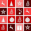 red Christmas tiles by marasdaughter