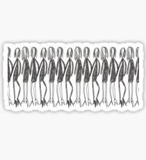 Ladies in black Sticker
