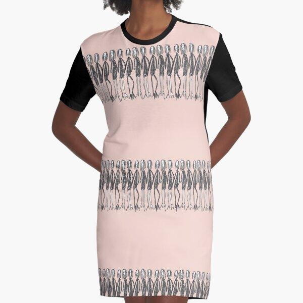 Ladies in black Graphic T-Shirt Dress