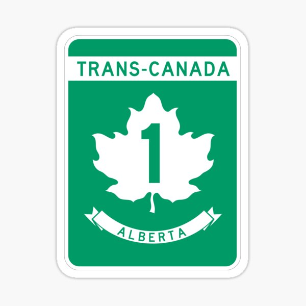 Alberta Highway 1 (Trans-Canada Highway) | Canada Highway Shield Sign Sticker Sticker