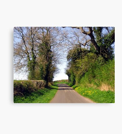 An English Country Road Canvas Print