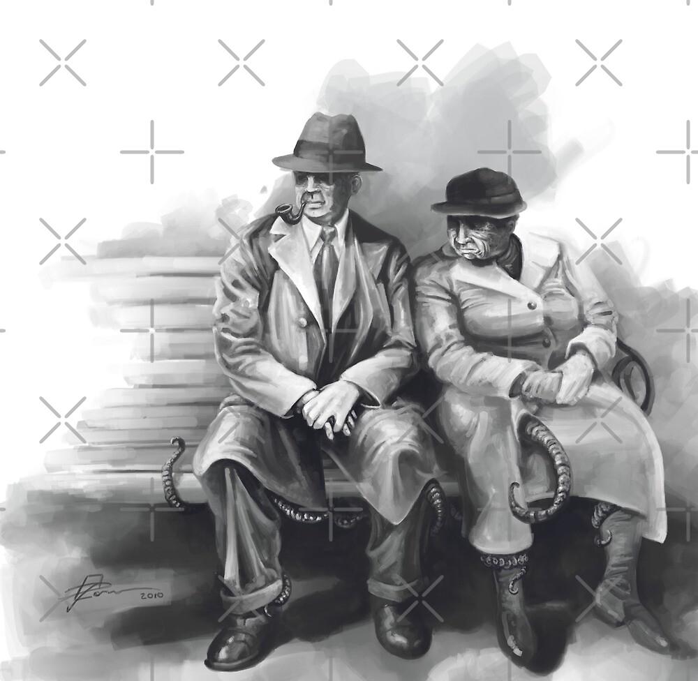 Odd Couple by Jeff Powers Illustration
