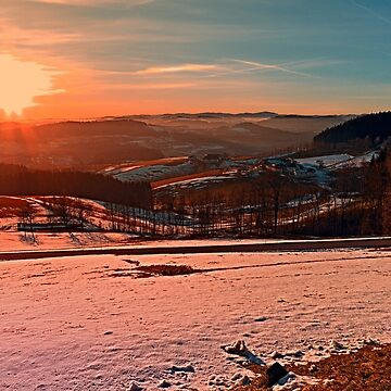 Colorful winter wonderland sundown II | landscape photography by patrickjobst