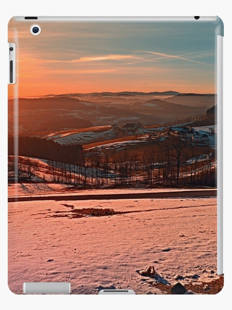 Colorful winter wonderland sundown II   landscape photography by Patrick Jobst
