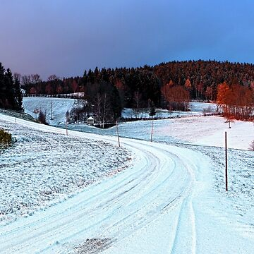 Country road through winter wonderland II | landscape photography by patrickjobst