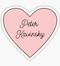 Peter Kavinsky Heart Black Sticker