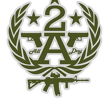 MAD THREDZ, 2ND AMENDMENT WREAH OD&GREY by MADthredz
