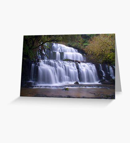 Purakunui falls,Southland Greeting Card