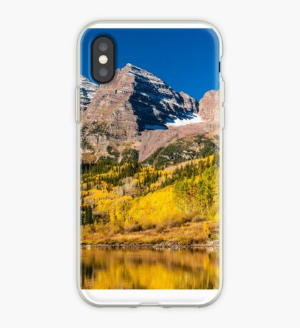Maroon Bells Fisherman iPhone Case