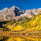 Maroon Bells Fisherman by Gregory J Summers
