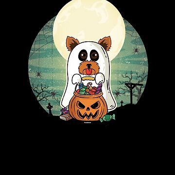 Terrier Yorkshire Ghost Halloween by TomGiantDesigns
