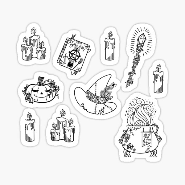 Witchy Things Sticker Pack!! Sticker