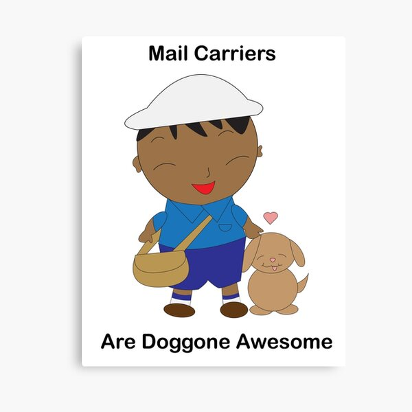 Black Mail Carrier Doggone Awesome Cute Canvas Print
