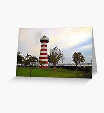 Lefrak Point Lighthouse Jersey City Greeting Card