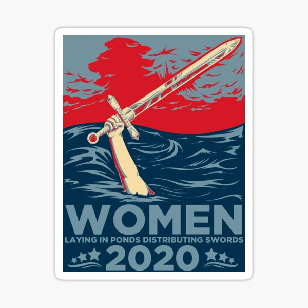 Lady of the lake 2020 President.  Sticker