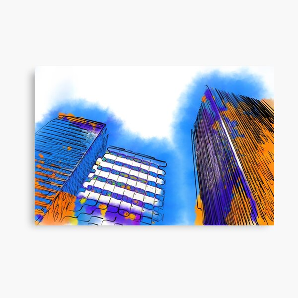 Abstract Towers Canvas Print