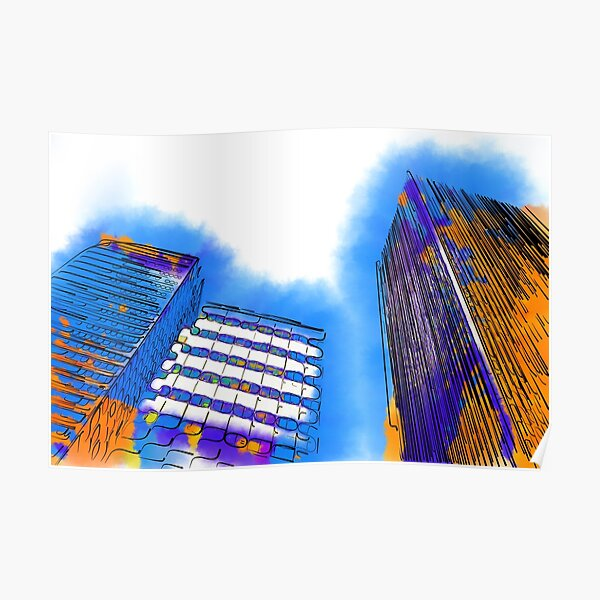Abstract Towers Poster