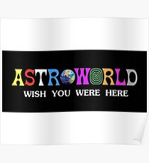 Astroworld wish you were here Poster