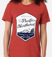 Explore the Pacific Northwest (outlined) Tri-blend T-Shirt