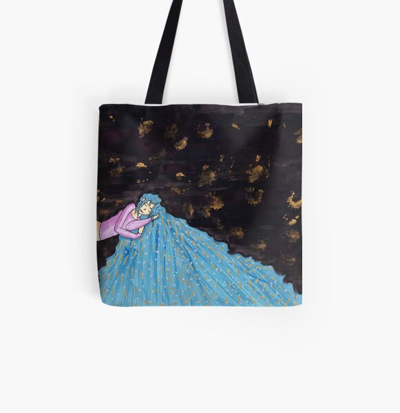 The Girl Who Dreams Worlds  All Over Print Tote Bag