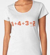 6+4+3=2: San Francisco Women's Premium T-Shirt
