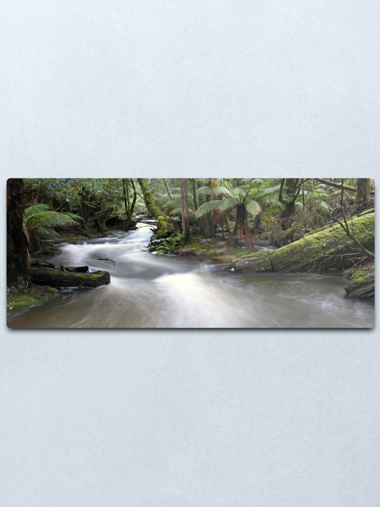 Alternate view of Russell Creek, Tasmania, Australia Metal Print