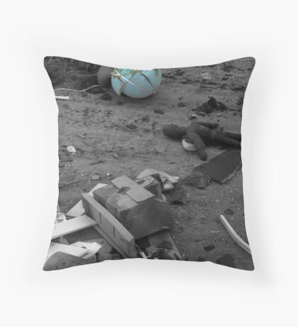 Throwing It All Away Throw Pillow