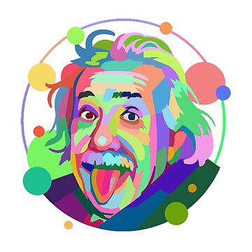 Neon Pastel Rainbow Einstein by unclestich