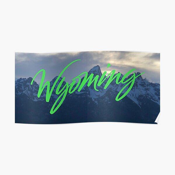 Wyoming - Ye Album Cover Landscape Poster